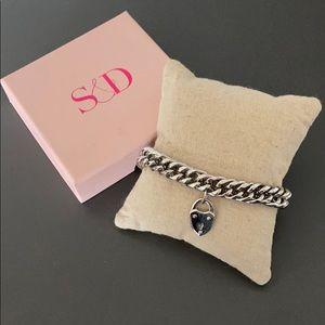 Silver Heart Lock Bracelet NWT